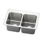 Elkay -  PLA3322123 Pursuit Stainless Steel 33 x 22 Undermount Double Basin Kitchen Sink with 12-1/8 Depth and Rounded Basin Corners: Stainless 0094902435701