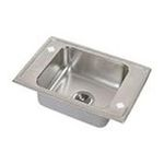 Elkay -  DRKADQ2220402LM Lustertone Quick Clip Ada Classroom Sink With 2 Holes Side Ledge 0094902599809