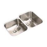 Elkay -  EGUH312010RDBG Gourmet Elumina Stainless Steel 31-1/4 x 20-1/2 Double Basin Kitchen Sink with Right Primary Bowl  10 Depth  Bottom Grid  and Drain: Stainless 0094902601717