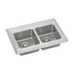 Elkay -  Echo Stainless Steel 33 Self Rimming Double Basin Kitchen Sink with 10 Depth: Stainless 0094902604480