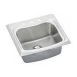 Elkay -  ECTME2522101 Echo Stainless Steel 25 Self Rimming Single Basin Kitchen Sink with 10 Depth: 1 Faucet 0094902604633