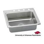 Elkay -  LR25224BNCUARF Gourmet Lustertone Stainless Steel 25 x 22 Single Bowl Kitchen Sink with University of Arkansas 0094902615738