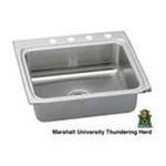 Elkay -  Gourmet Lustertone Stainless Steel 25 x 22 Single Bowl Kitchen Sink with Marshall University 0094902617640