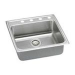 Elkay -  LRADQ2222655 Gourmet Lustertone Stainless Steel 22 x 22 Single Basin Top Mount Kitchen Sink: 0094902668819
