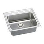 Elkay -  LRAD252140R4 Kitchen Sink 1 Bowl Lustertone: 4 Faucet 0094902754727