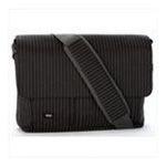 Georgia Peach Products -  Expand-It Medium 15 Laptop Messenger Bag in Black Pinstripe 0094922550347