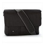 Georgia Peach Products -  Expand-It Small 13 Laptop Messenger Bag in Black Pinstripe 0094922550477