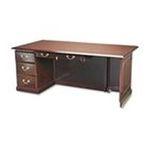 DMI Furniture, Inc. -  DMi Governors Box/File Single Pedestal Desk - 72 Width x 36 Depth x 30 Height - 1, 1 Drawer - Single Pedestal on Left Side - Mahogany 0095385009465