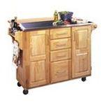 DMI Furniture, Inc. -  Stainless Steel Kitchen Island Cart | Home Styles Natural Breakfast Bar Kitchen Cart 0095385037093