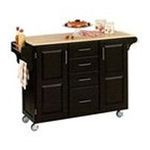 DMI Furniture, Inc. -  Black Kitchen Island with Wood Top 0095385063542