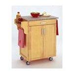 DMI Furniture, Inc. -  Natural Kitchen Cart with Grey Granite Top 0095385065195