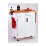 DMI Furniture, Inc. -  Homestyles 9001-0021 White Kitchen Cart with Wood Top 0095385065225