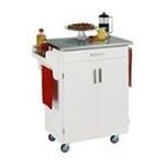 DMI Furniture, Inc. -  Kitchen Cart with Wood Top - Finish: White 0095385065232