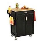 DMI Furniture, Inc. -  Black Kitchen Cart with Wood Top 0095385065287