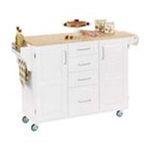 DMI Furniture, Inc. -  White Kitchen Island with Wood Top 0095385065348