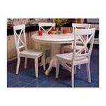 DMI Furniture, Inc. -  Home Styles Round Pedestal Dining Table - Round - 4 Legs - 42 x 30.0 - Hardwood - Antique White 0095385716431