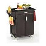 DMI Furniture, Inc. -  Black Kitchen Cart with Black Granite Top 0095385730277