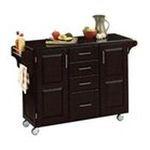 DMI Furniture, Inc. -  Black Kitchen Island with Black Granite Top 0095385730284