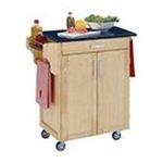 DMI Furniture, Inc. -  Natural Kitchen Cart with Black Granite Top 0095385730314