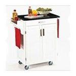 DMI Furniture, Inc. -  White Kitchen Cart with Black Granite Top 0095385730321