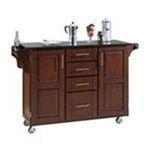 DMI Furniture, Inc. -  Homestyles 9100-1014 Natural Wood Kitchen Cart with Black Granite Top | Cherry Kitchen Island Cart with Black Granite Top 0095385730369