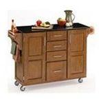 DMI Furniture, Inc. -  Homestyles 9100-1064 Cottage Oak Wood Kitchen Cart with Black Granite Top 0095385730406