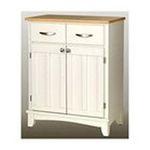 DMI Furniture, Inc. -  White Base and Natural Wood Top Buffet 0095385735265