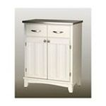DMI Furniture, Inc. -  White Base and Stainless Steel Buffet 0095385735302
