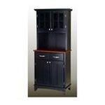 DMI Furniture, Inc. -  Black Hutch Buffet with Wood Top 0095385735432
