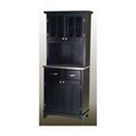 DMI Furniture, Inc. -  Black Buffet with Stainless Steel Top and 2-Glass Door Hutch 0095385735463