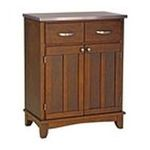 DMI Furniture, Inc. -  Medium Cherry Buffet with Stainless Steel Top 0095385735654