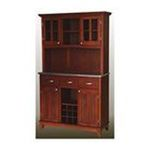 DMI Furniture, Inc. -  Buffet with 2Door Hutch Cherry Stainless Steel 0095385736170
