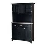 DMI Furniture, Inc. -  Black Hutch Buffet with Stainless Top 0095385744007