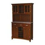 DMI Furniture, Inc. -  Mix and Match large Cherry buffet server with two-door hutch and stainless steel top 0095385744212