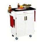 DMI Furniture, Inc. -  Mix & Match 2 Door w/ Drawer Cuisine Cart Cabinet, White, 32-1/2 in. W x 18-3/4 in. D x 36 in. H, Black Granite Top 0095385745226