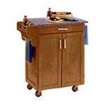 DMI Furniture, Inc. -  Mix & Match 2 Door w/ Drawer Cuisine Cart Cabinet, Cottage Oak Stain, 32-1/2 in. W x 18-3/4 in. D x 36 in. H, Grey Granite Top 0095385745370