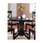 DMI Furniture, Inc. -  Black Pedestal Dining Table 0095385757861