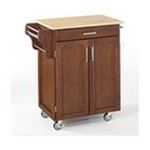 DMI Furniture, Inc. -  Cherry Kitchen Cart  with Natural Wood Top 0095385766726