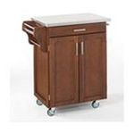 DMI Furniture, Inc. -  Cherry Kitchen Cart  with Stainless Steel Top 0095385766733