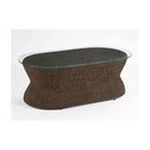 DMI Furniture, Inc. -  Cabana Banana Coffee Table with Glass Top in Cocoa 0095385787776
