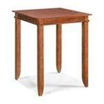 DMI Furniture, Inc. -  Jamaican Bay Square Bistro Table in Soft Mahogany 0095385787868