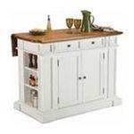 DMI Furniture, Inc. -  Home Styles White Distressed Oak Kitchen Island 0095385791292