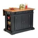 DMI Furniture, Inc. -  Home Styles Black Distressed Oak Kitchen Island 0095385791339