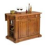 DMI Furniture, Inc. -  36.5 x 49.75 Kitchen Island in Cottage Oak 0095385791377
