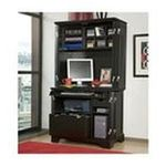 DMI Furniture, Inc. -  Bedford Compact Office Cabinet and Hutch - Finish: Ebony 0095385796488