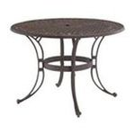 DMI Furniture, Inc. -  Home Styles 42 Outdoor Table - Round - 4 Legs - 42 x 29.0 - Metal, Cast Aluminum - Burnished Bronze 0095385798291