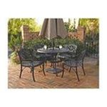 DMI Furniture, Inc. -  Five Piece 42 Round Outdoor Dining Set with Arm Chairs in Black 0095385798437
