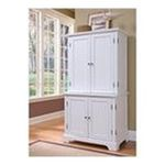 DMI Furniture, Inc. -  Naples Compact Computer Cabinet with Hutch, White Finish 0095385805180