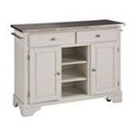 DMI Furniture, Inc. -  Premium Create-a-Cart White Kitchen Cart with Stainless Steel Top 0095385806163