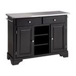DMI Furniture, Inc. -  Premium Create-a-Cart Black Kitchen Cart with Stainless Steel Top | Home Styles Premium Create-a-Cart with Stainless Steel Top 0095385806217